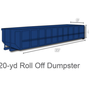 20 yard roll off dumpster